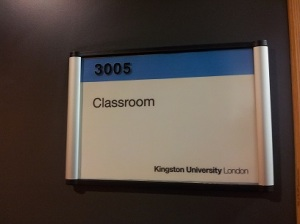 Room 3005, where my workshop sessions were held in both semesters.