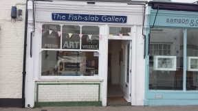 The Fish-slab gallery, artist run, named as it used to be a fishmongers.
